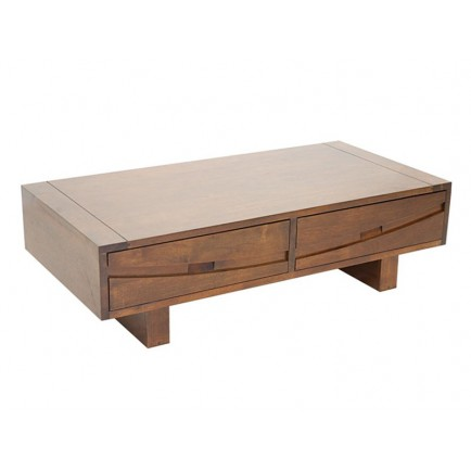 Table Basse Rectangulaire Horizon Hévéa - meuble style ethnique