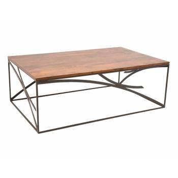 Table Basse Déco Loft Palissandre - meuble style industriel