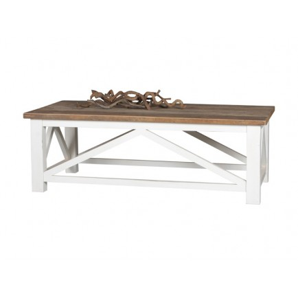 Table Basse Rectangulaire Croisillons Olimpia Teck - meuble teck massif