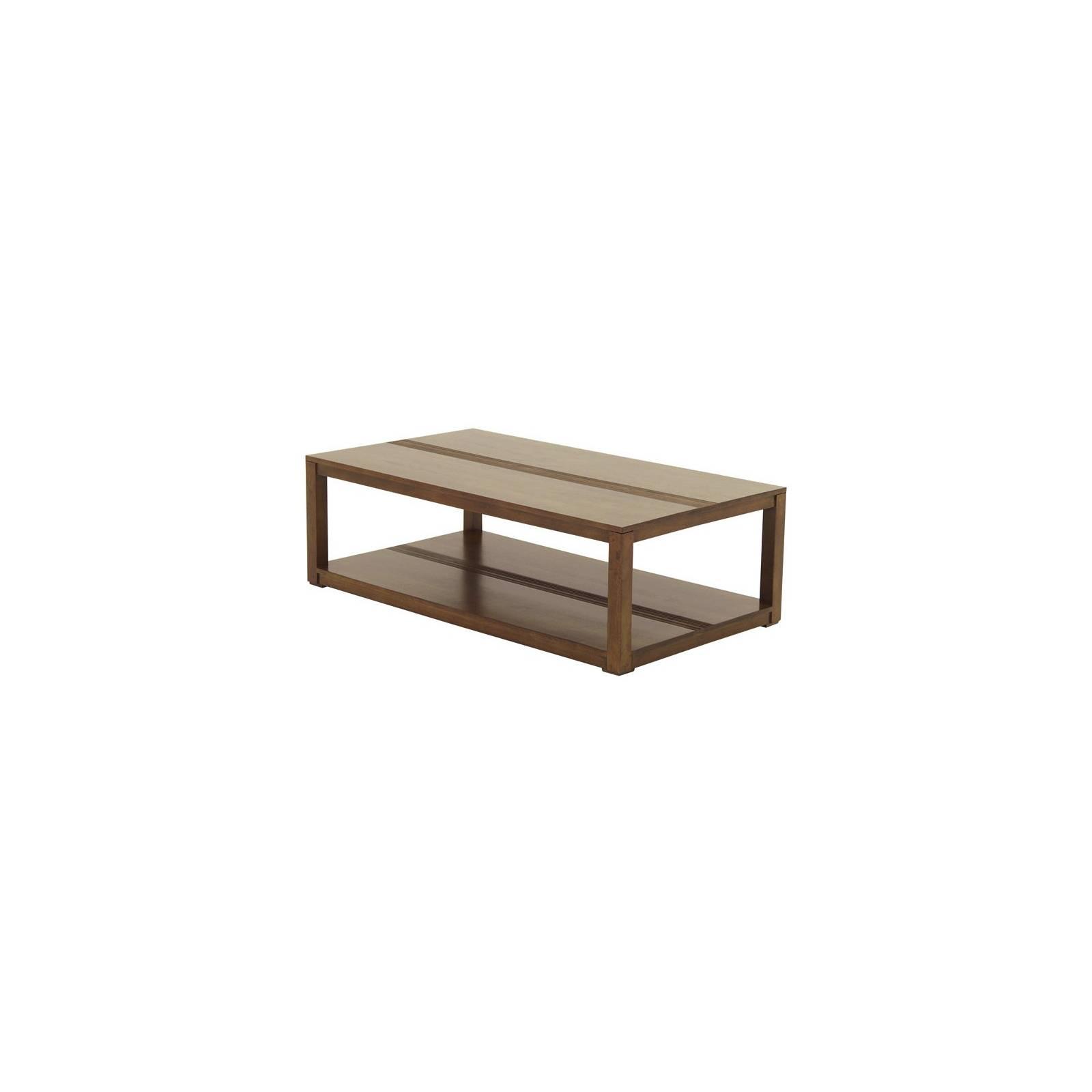 Table Basse Rectangulaire Siguiri Hévéa - meuble colonial
