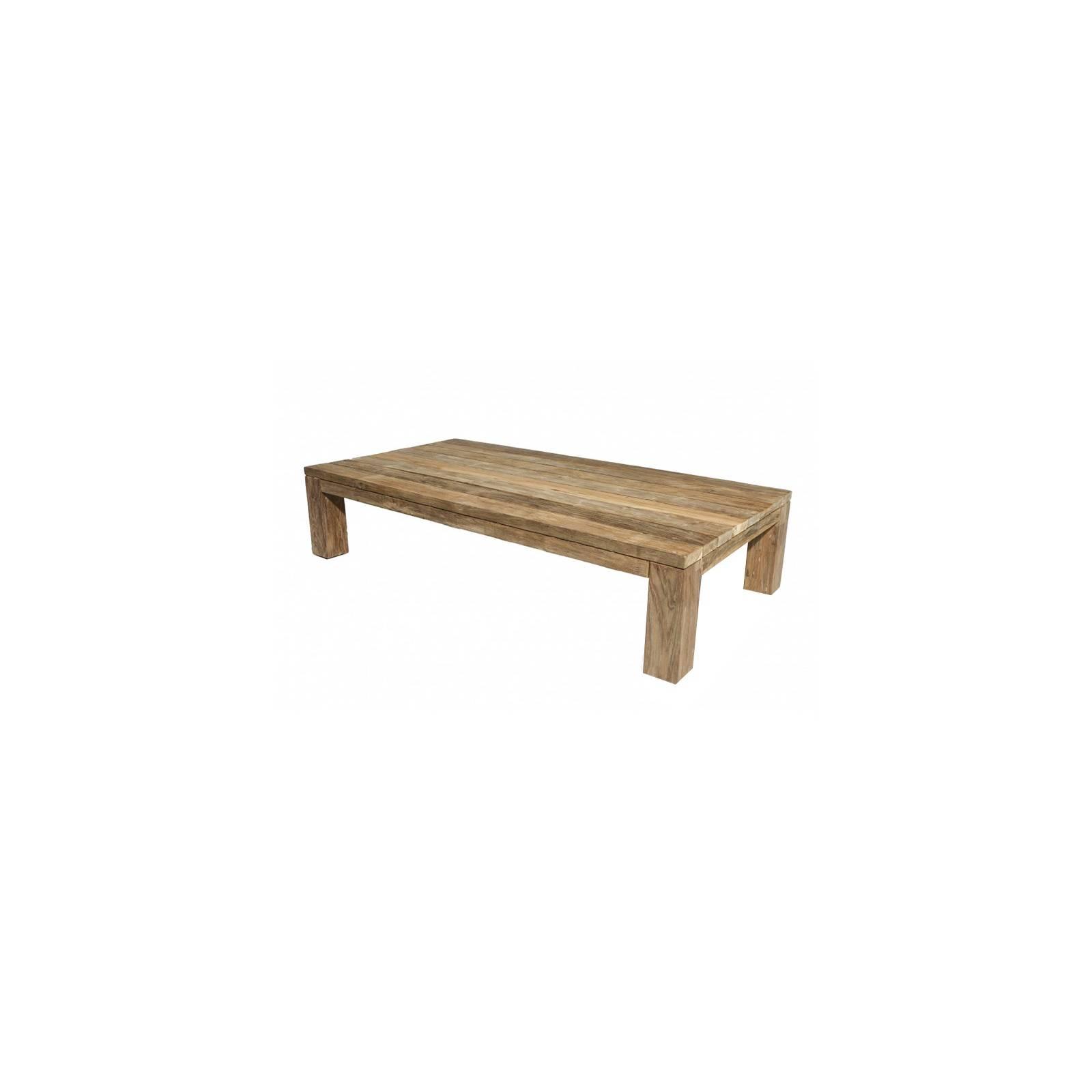Table Basse Rectangulaire Taman Teck Recyclé - meuble de jardin