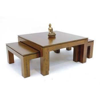 Table Basse S/3 Montréal Hévéa