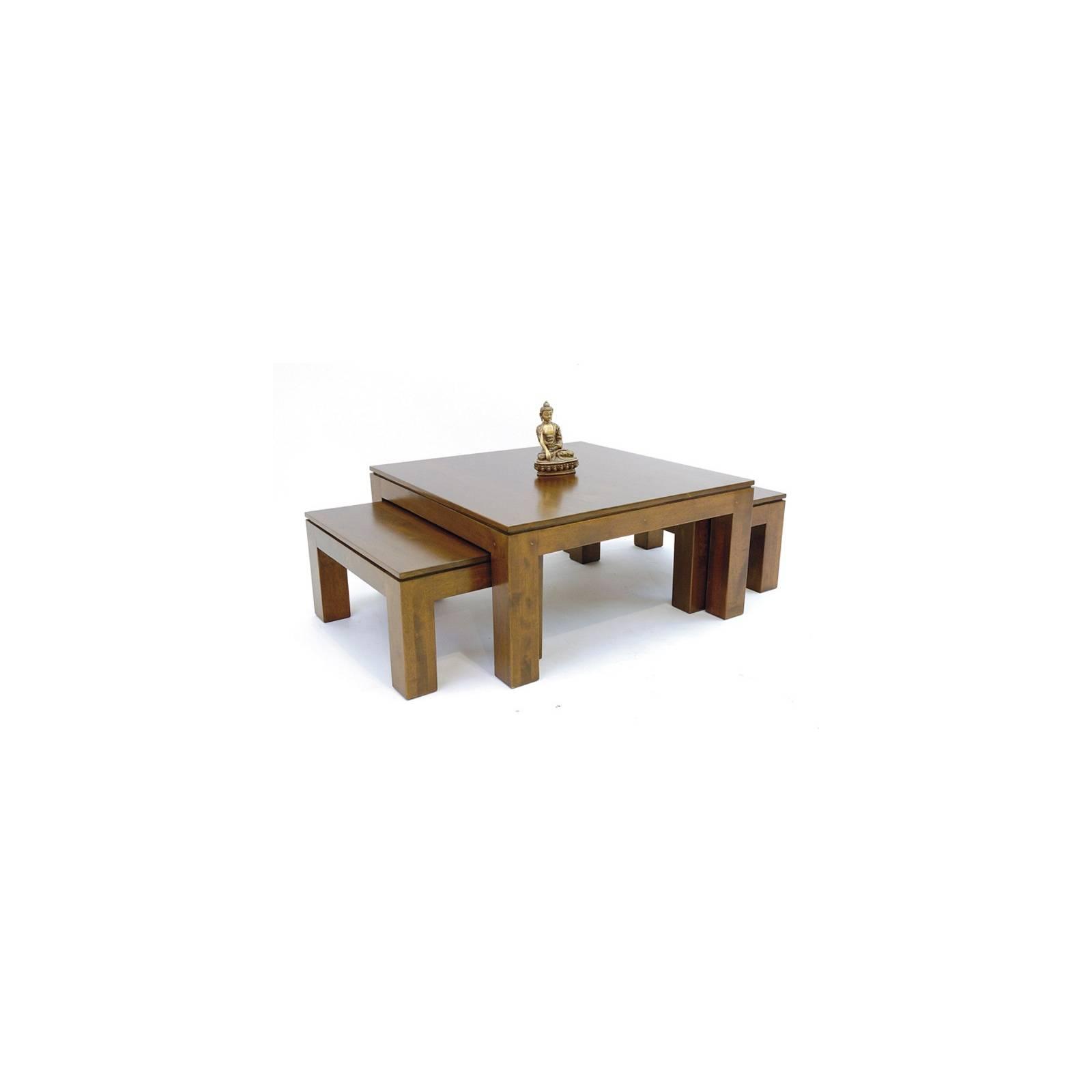 Table Basse S/3 Montréal Hévéa - meuble écologiques