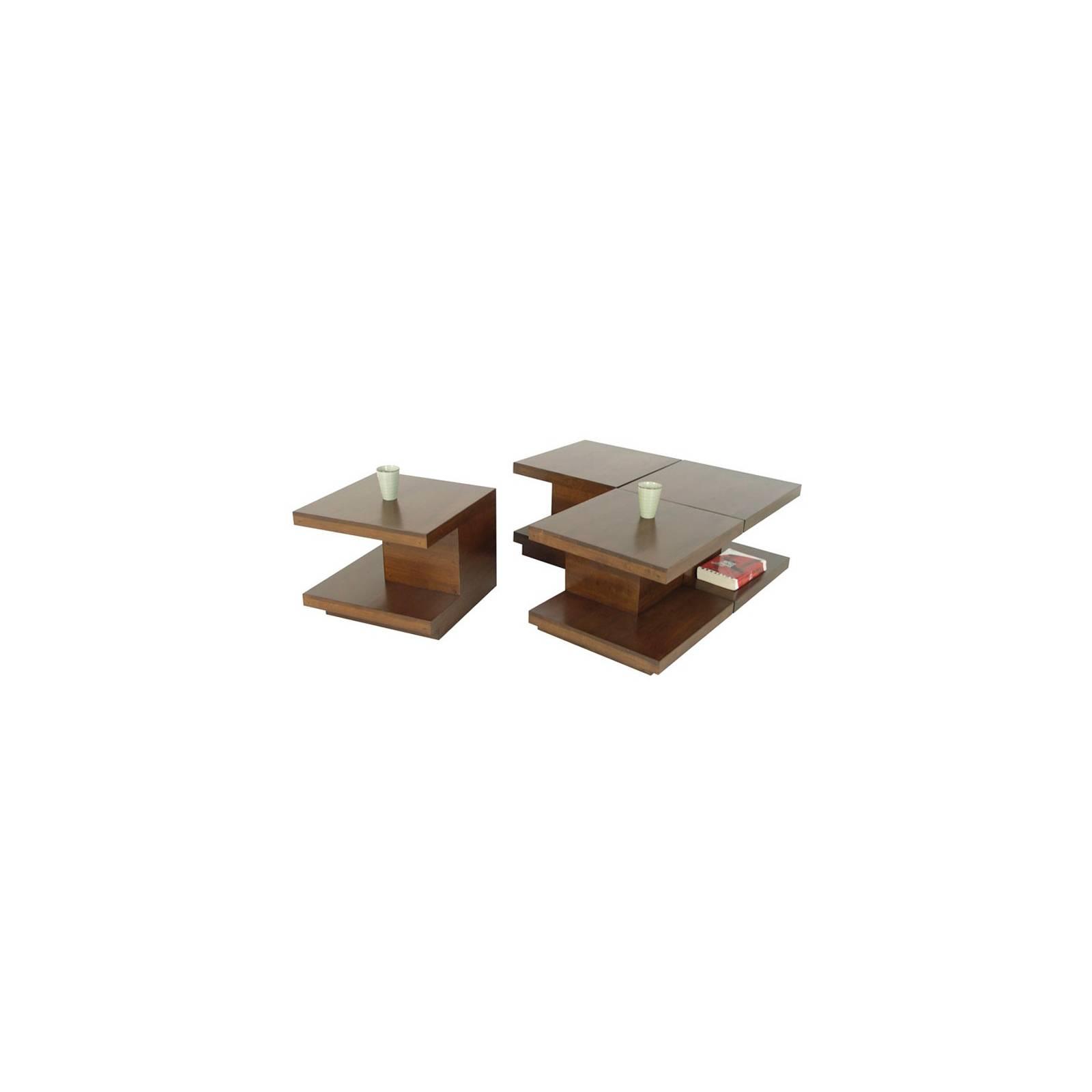 Table Basse S/4 Omega Hévéa - meuble style design