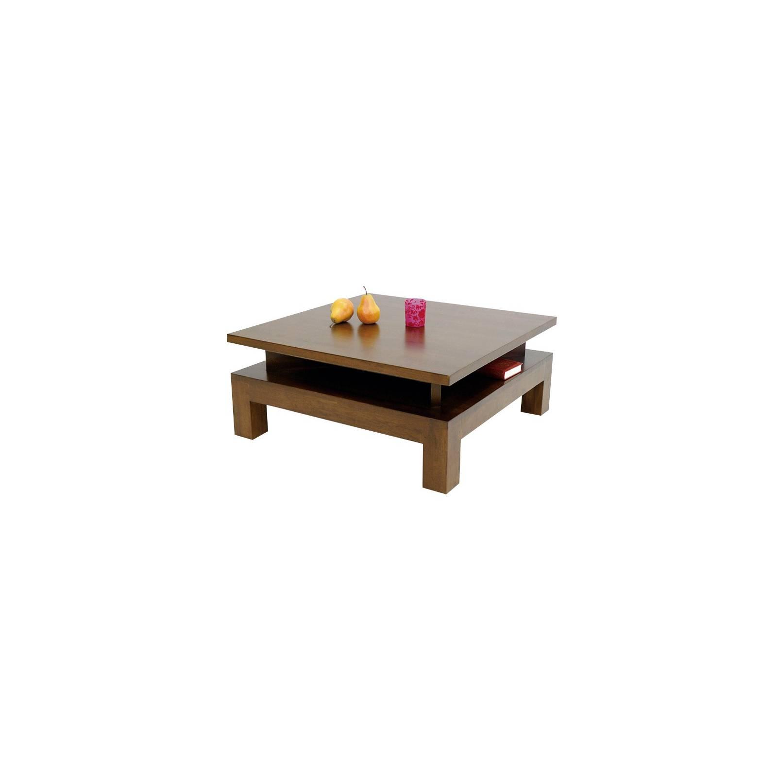 Table Basse Surélevée Omega Hévéa - meuble style design