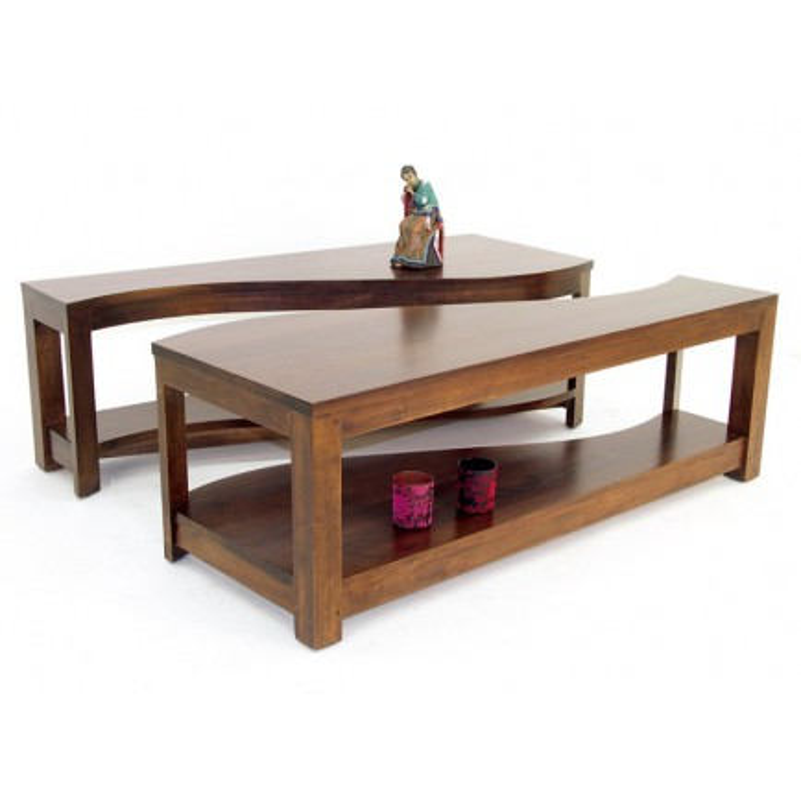 Table Basse Vague Oceania Hévéa - meuble style colonial