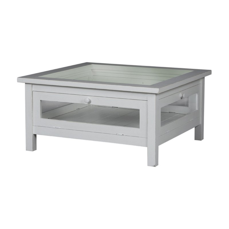 Table basse vitr e tosca meuble au style romantique for Table basse vitree