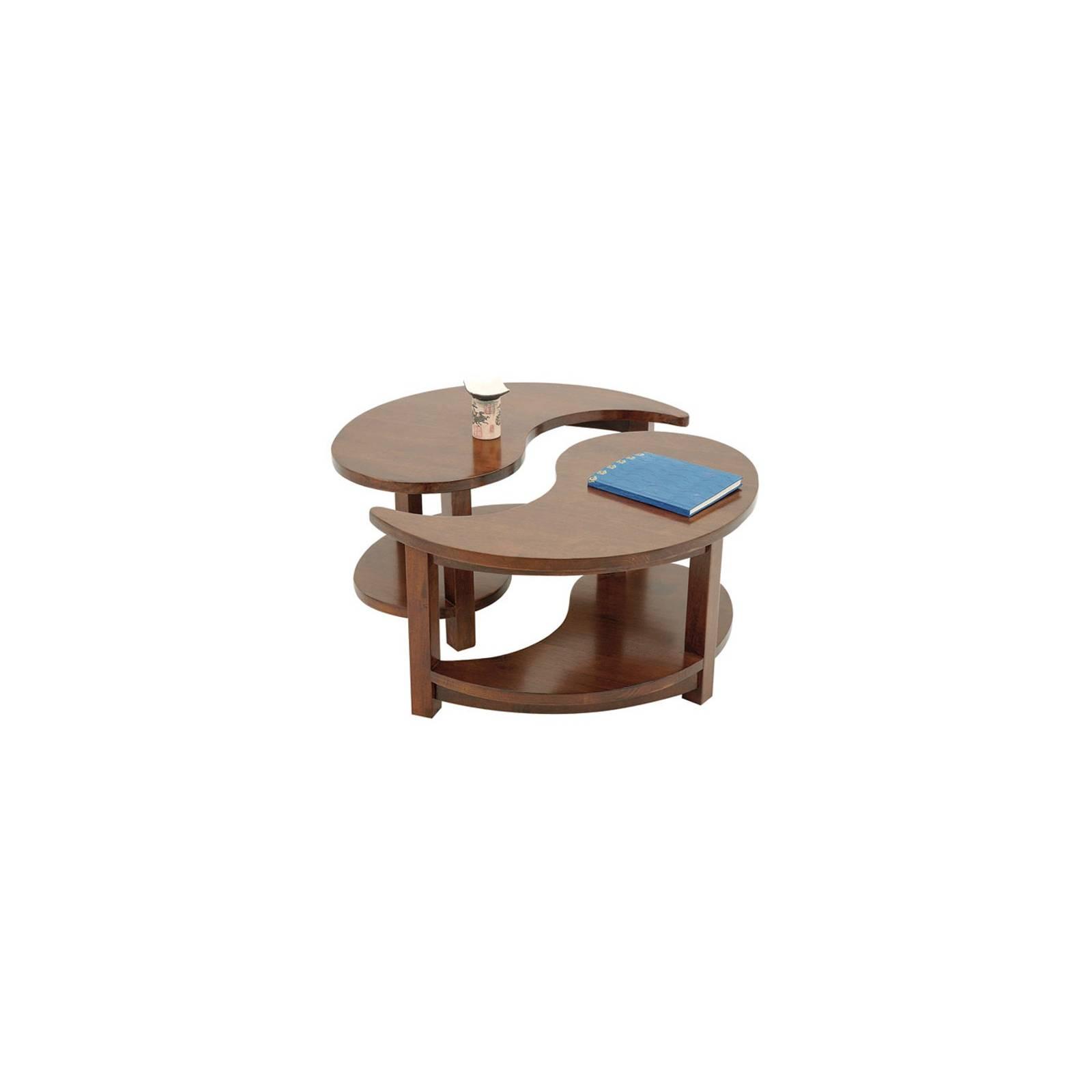 Table Basse Ying Yang Chine Hévéa - meuble bois exotique