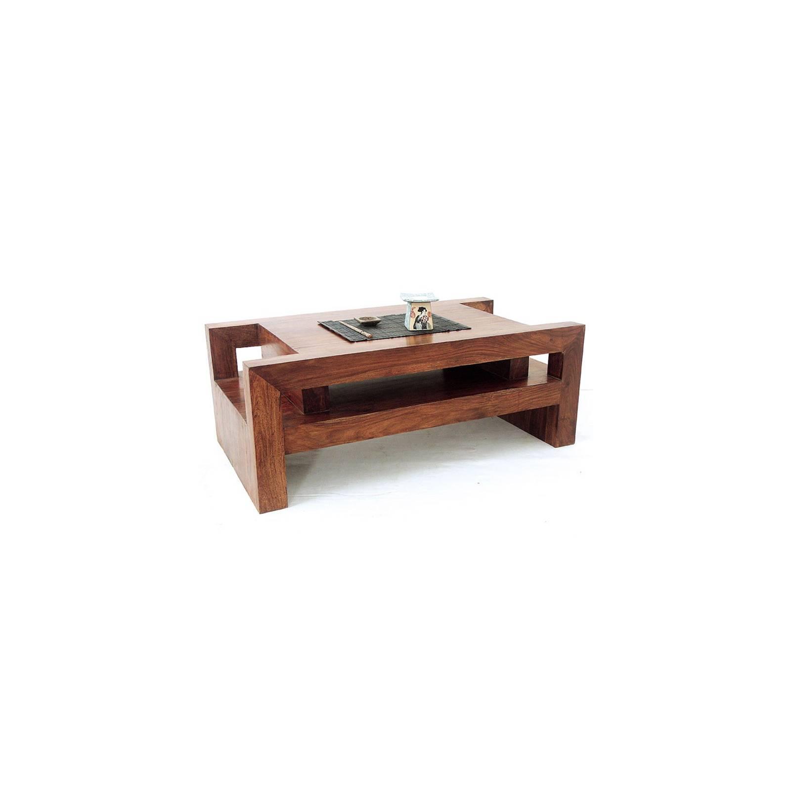 Table Basse Palissandre Zen - meuble en bois exotique