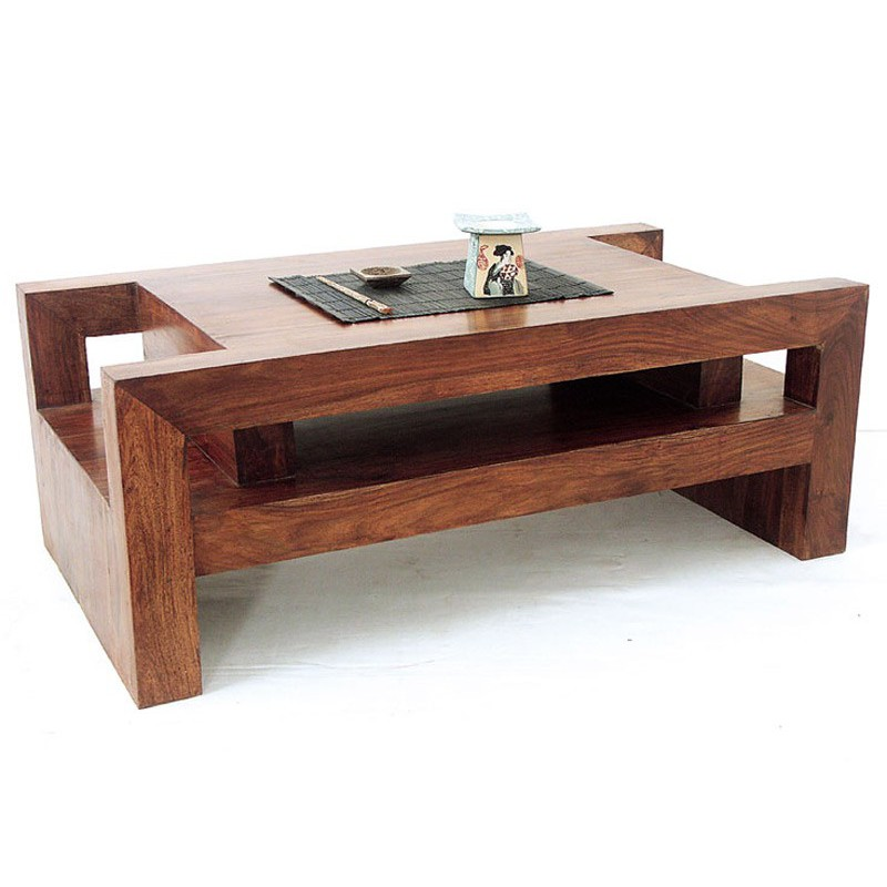 table basse en bois exotique zen d co l 39 esprit ethnique. Black Bedroom Furniture Sets. Home Design Ideas