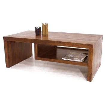 Table Basse Étagère Palissandre Zen