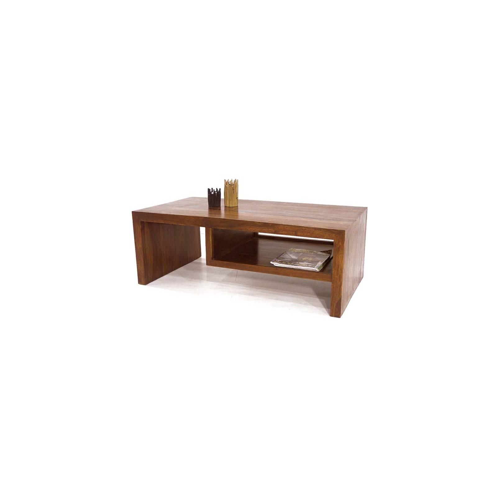 Table Basse Design Palissandre Zen - meuble en bois exotique