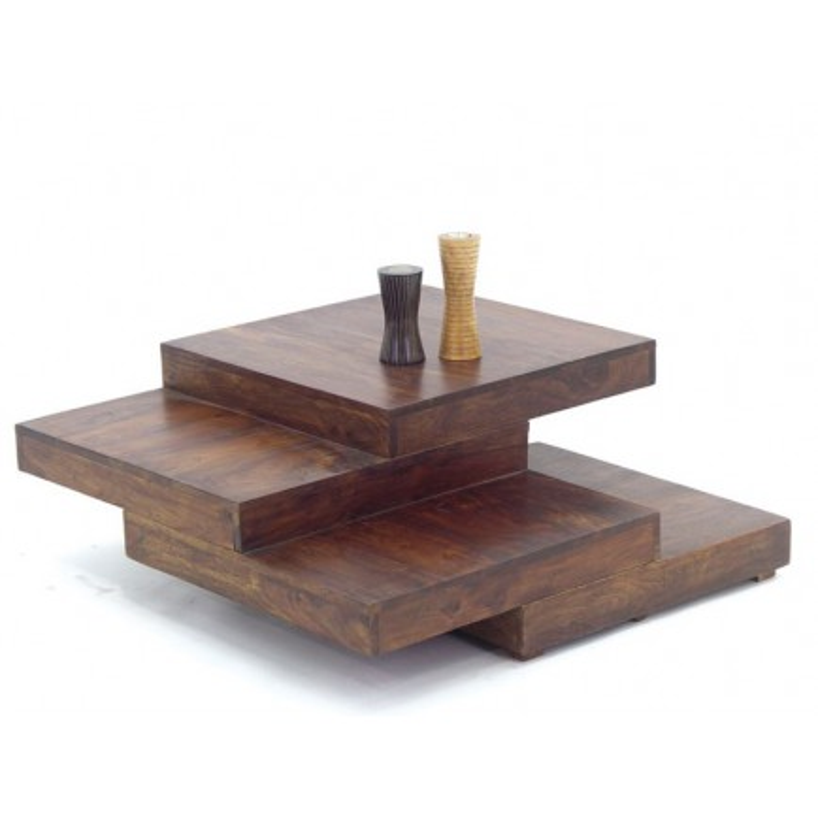 Table Basse Escalier Palissandre Zen - meuble en bois massif