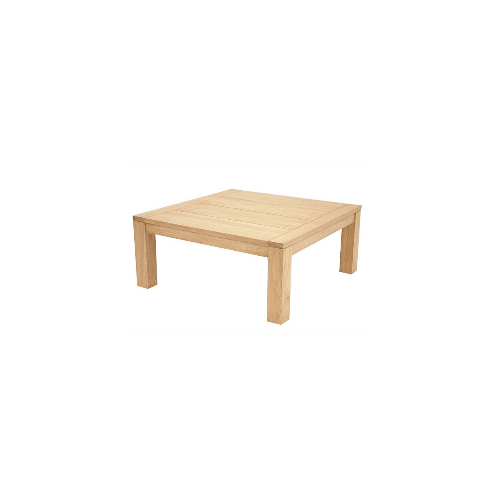 Table Carrée Broadway Hévéa - meuble bois massif