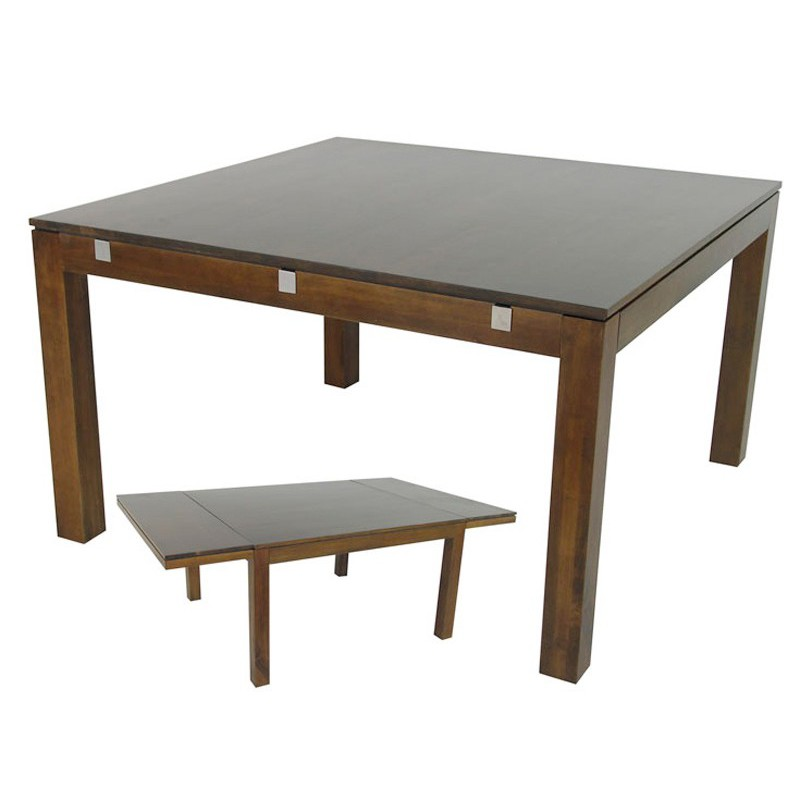 Table carree blanche avec rallonge table salle manger for Table carree avec rallonge