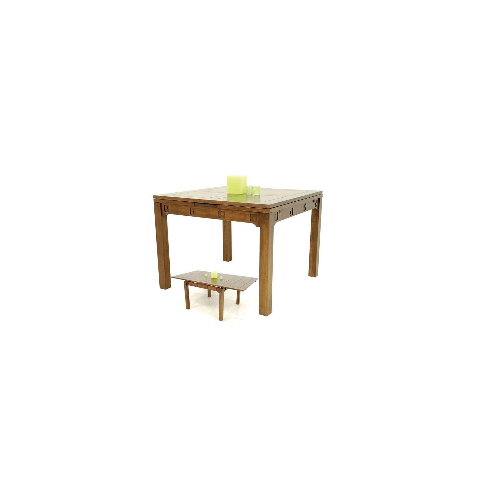 Table Carrée Tanoa Hévéa - mobilier bois massif