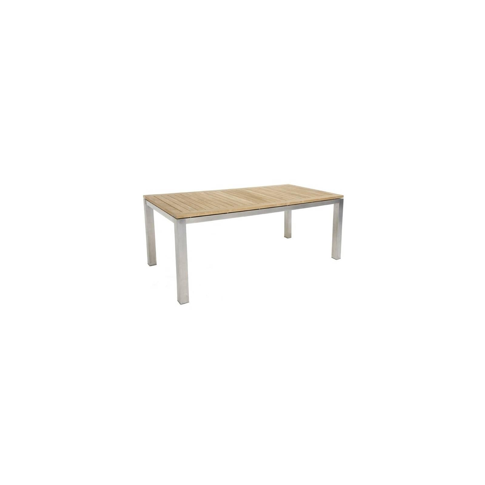 Table De Jardin Taman Inox Teck Recyclé - meuble de jardin