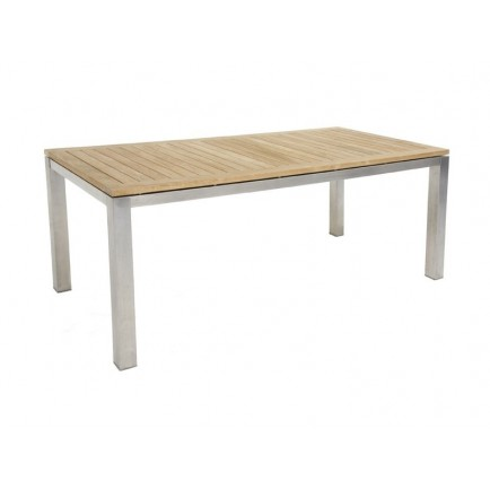 Table de jardin en teck et inox. Table d\'extérieur design Taman