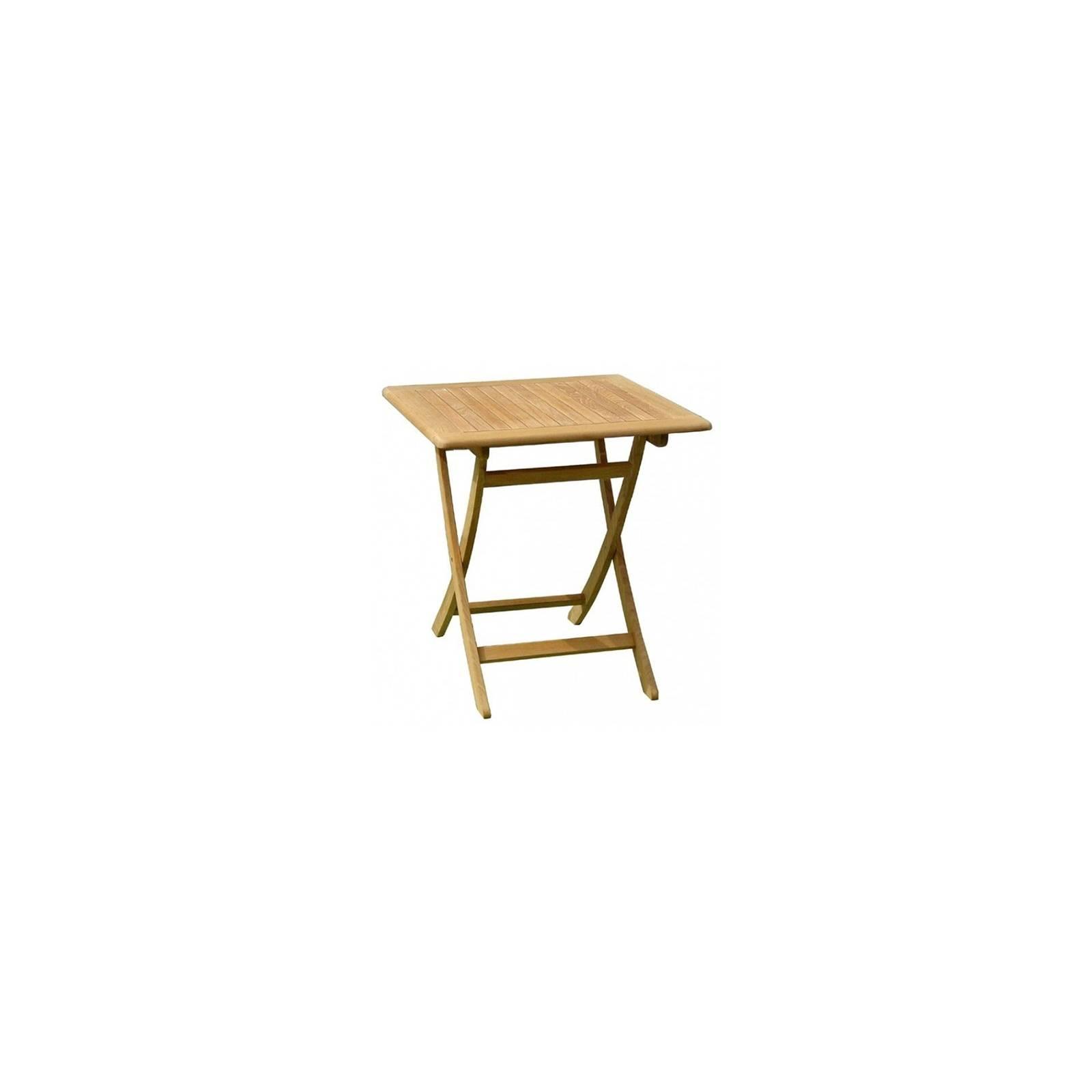 Table De Repas Carré Pliante Taman Teck Recyclé - meuble de jardin