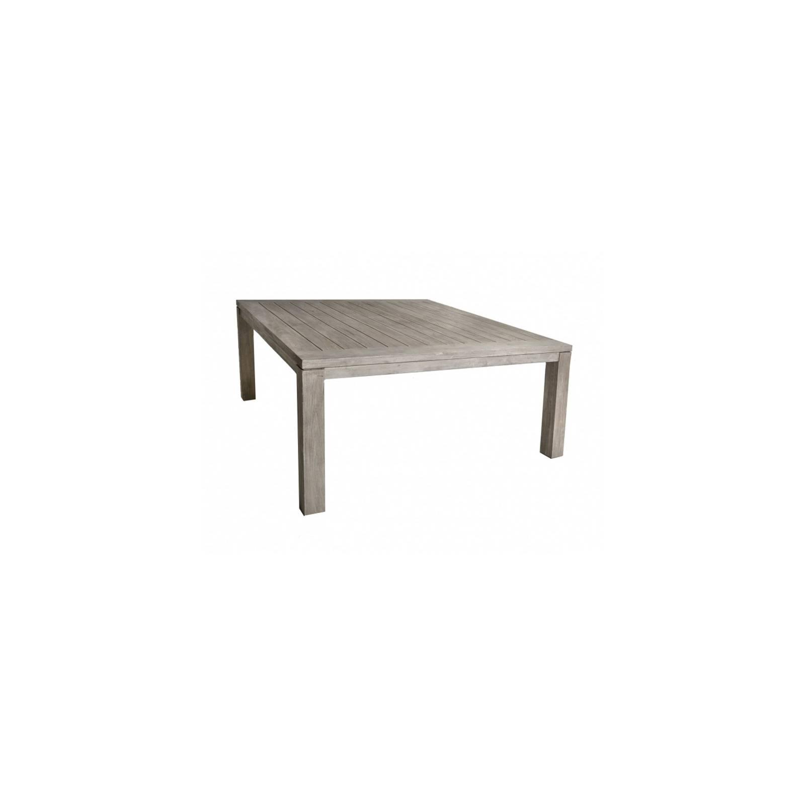 Table De Repas Carrée Grisée Taman Teck Recyclé - meuble de jardin