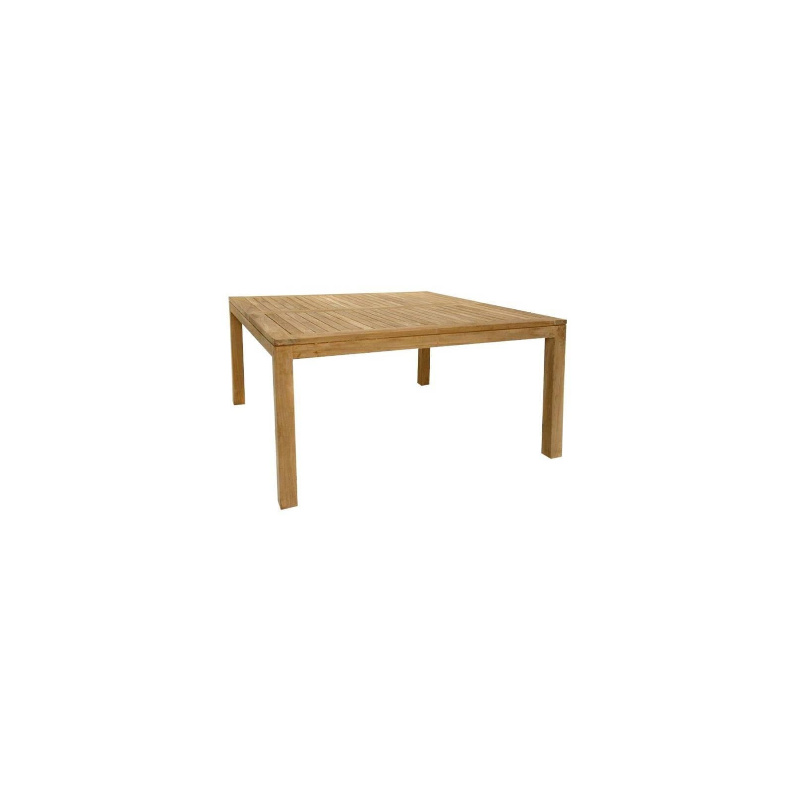 Teck Taman Repas De Table Carrée nv80wNm