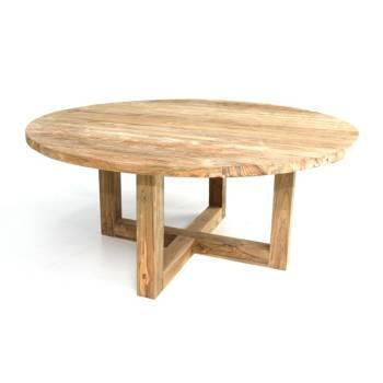 Table De Repas Croisillon Taman Teck Recyclé - meuble de jardin