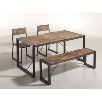 Table de Repas Isis Teck Recyclé - meuble bois massif