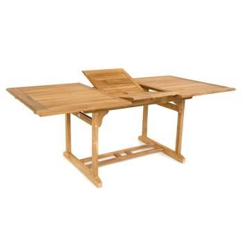 Table De Repas Rallonges Taman Teck Recyclé - meuble de jardin