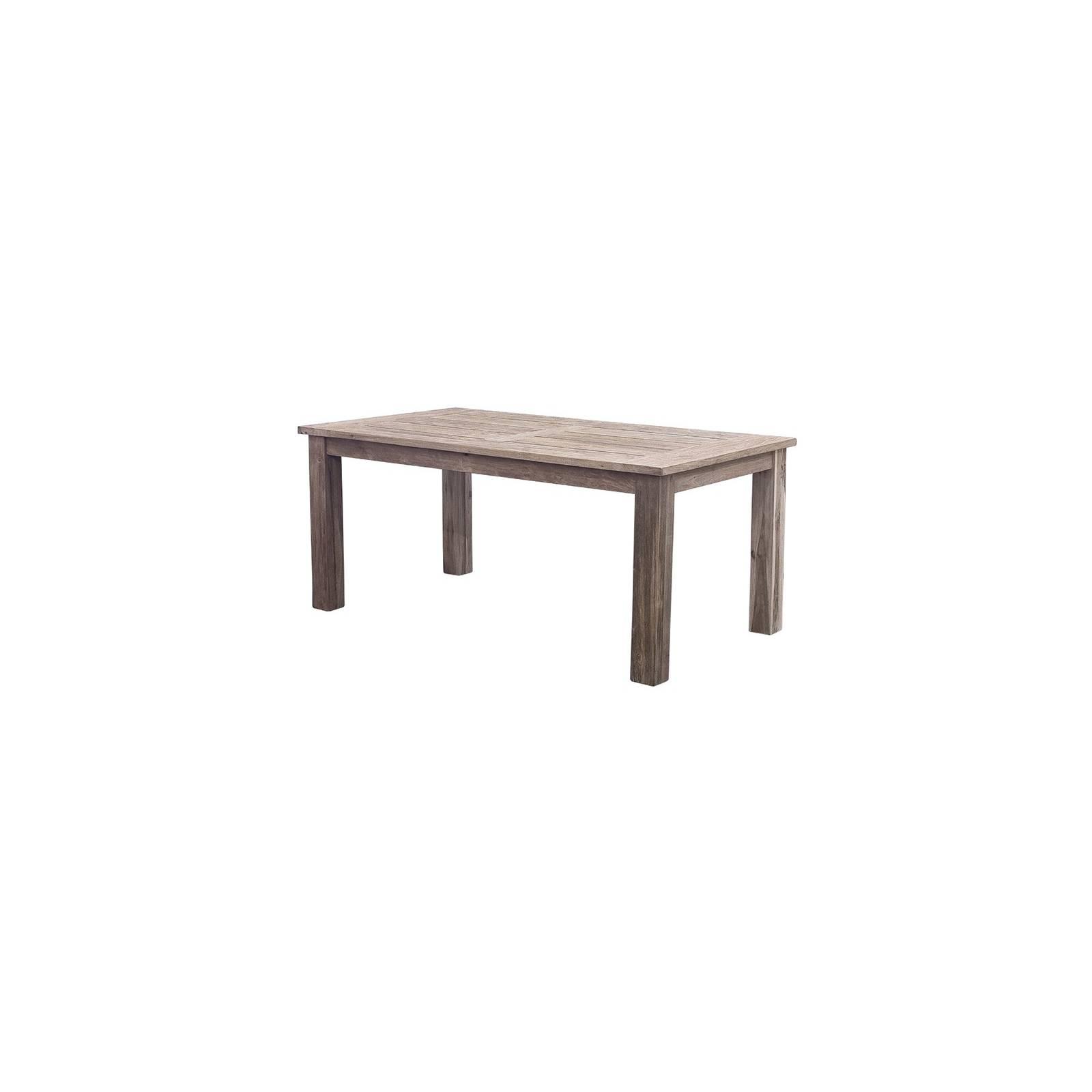 Table De Repas Rectangulaire Greenface Teck Recyclé - achat meubles