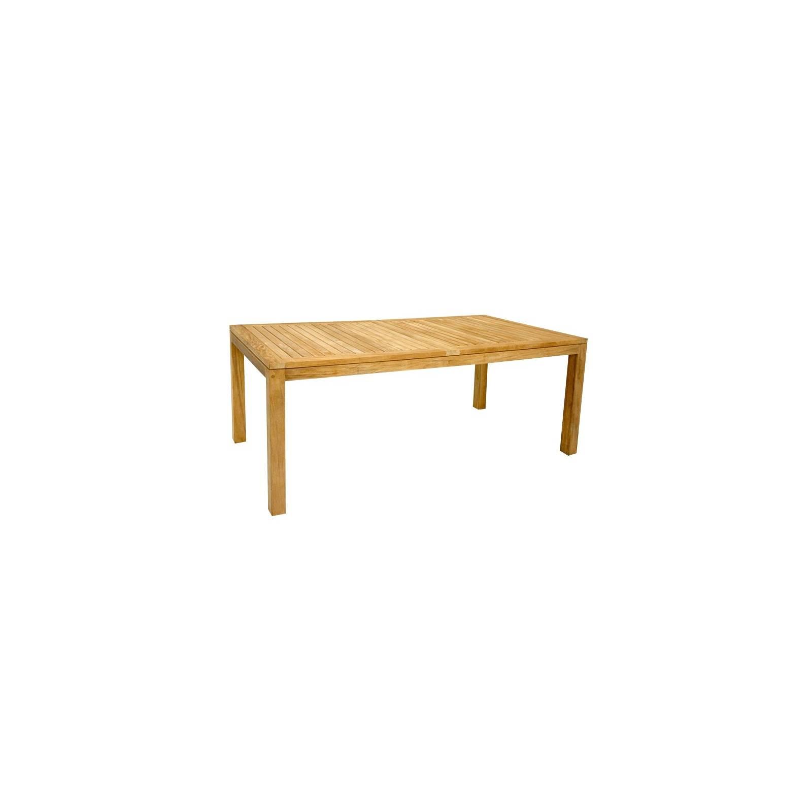 Table De Repas Rectangulaire Taman Teck Recyclé - meuble de jardin