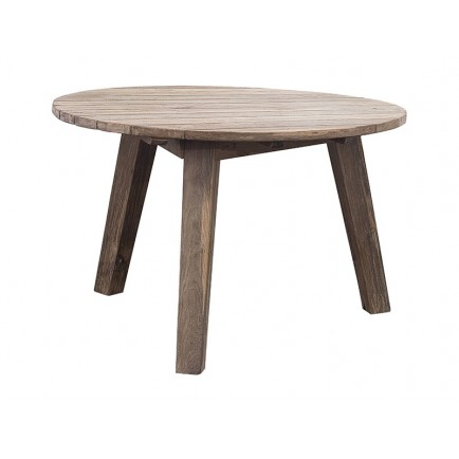 Table De Repas Ronde Greenface Teck Recyclé - meuble de jardin