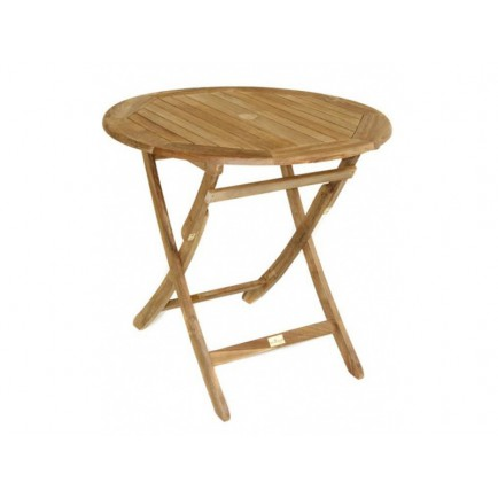 Table De Repas Ronde Pliante Taman Teck Recyclé - meuble de jardin