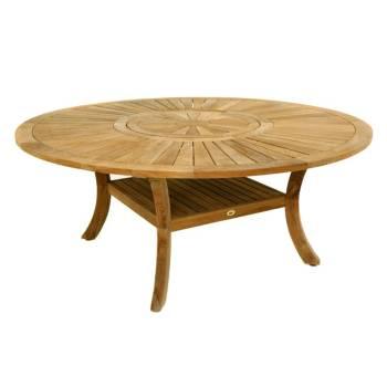 Table De Repas Ronde Taman Teck Recyclé - meuble de jardin