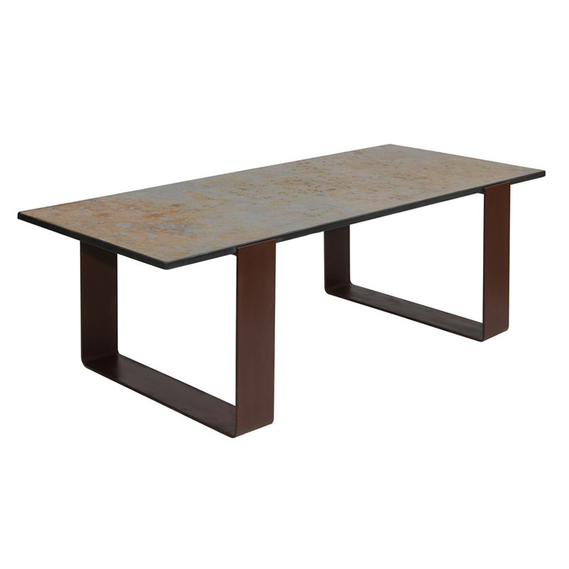 Table salle a manger style industriel for Table sejour industriel
