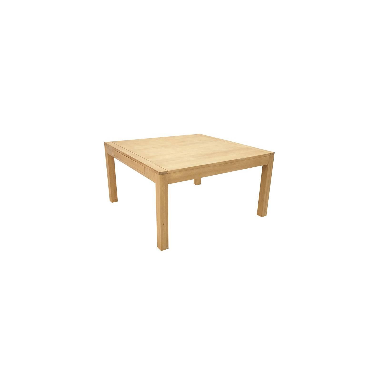 Table De Séjour Carrée Rallonges Fjord Hévéa - meuble déco