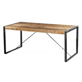 Table De Séjour Factory Acacia - meuble style industriel