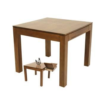 Table Carrée Extensible Montréal Hévéa - meuble écologiques