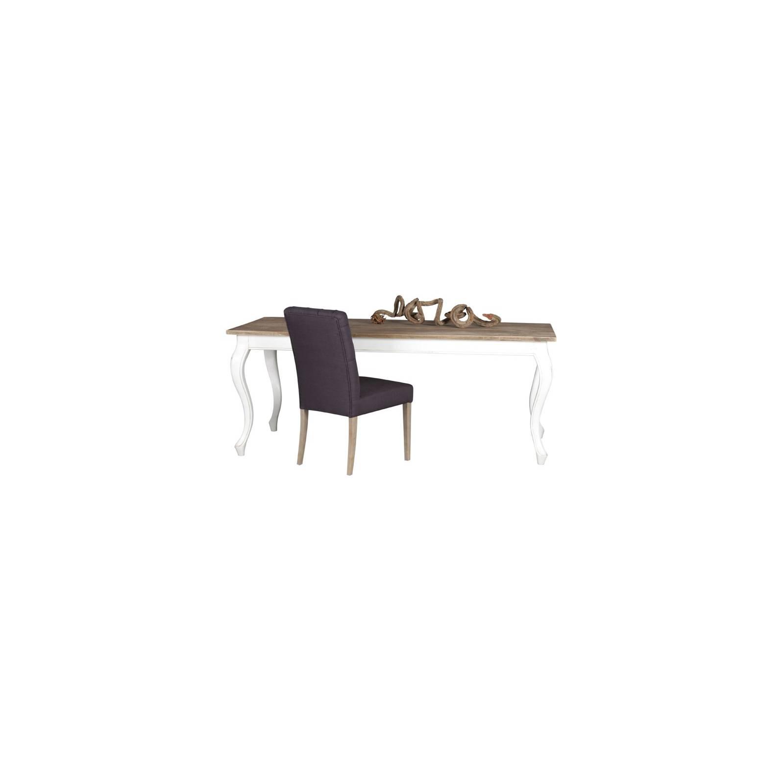 Table De Séjour Rectangulaire Baroque Olimpia Teck - meuble teck massif