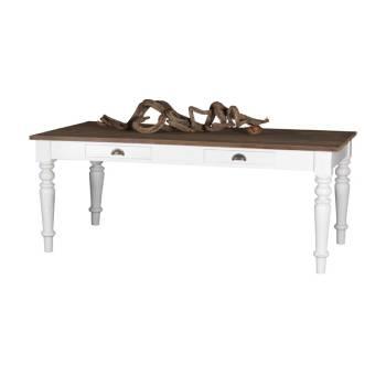 Table De Séjour Rectangulaire Sculptée Olimpia Teck - meuble teck massif