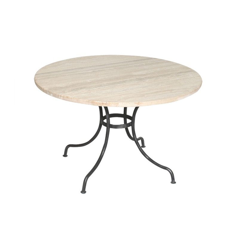 Table de repas ronde en marbre lub ron meuble artisanal for Table de sejour