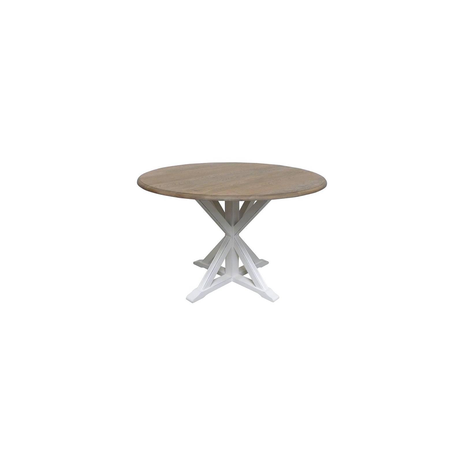 Table de repas ronde en bois camille d co style nature for Table de sejour