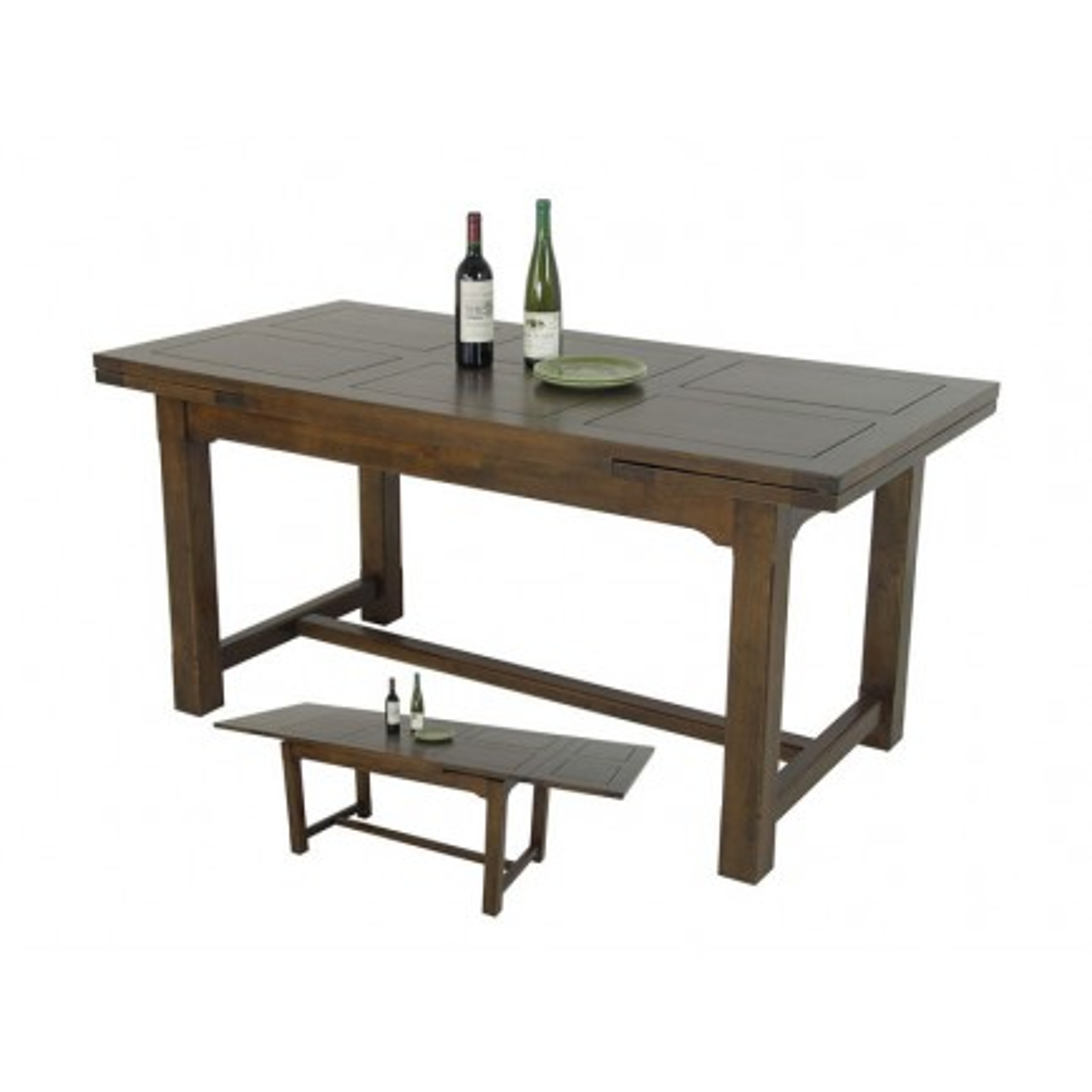 Table Repas + Rallonges Belle Epoque Hévéa - meuble style classique