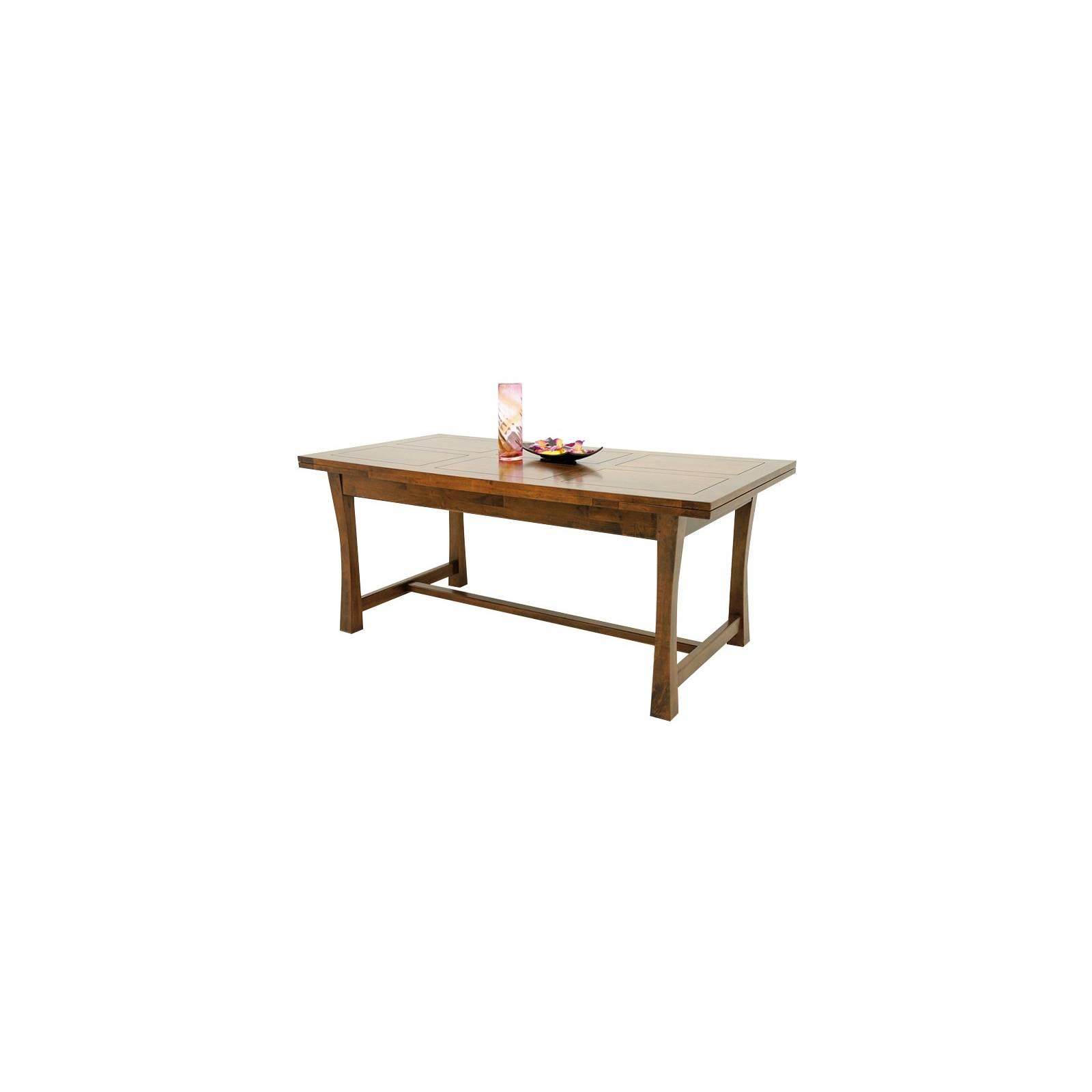 Table Repas + Rallonges Chine Hévéa - meuble bois exotique