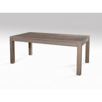 Table Repas PM Rallonge Cube Teck - meuble bois exotique