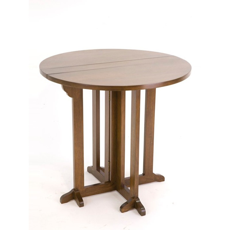 Table ronde pliante tradition h v a meuble salle manger for Meuble table pliante