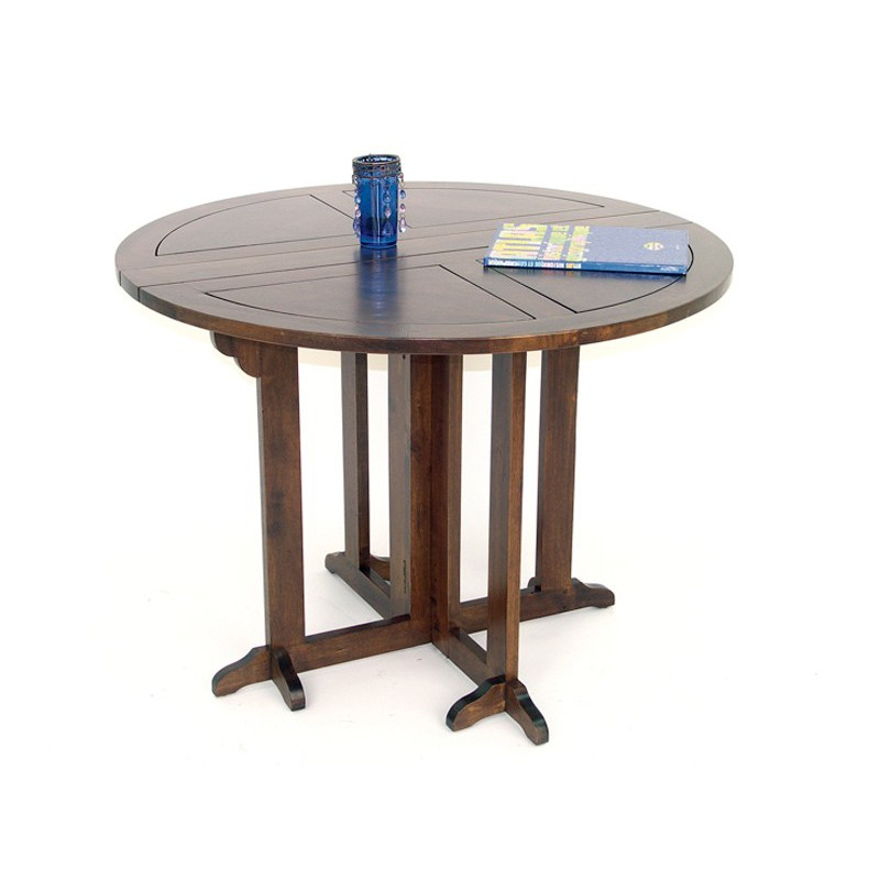 Table basse pliante teck - Petite table ronde pliante ...