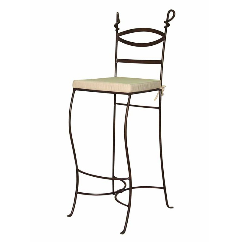 Tabouret de bar cabras fer forg meuble classique for Chaise de bar en fer forge