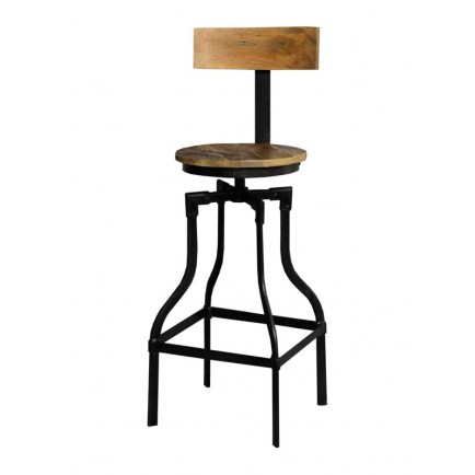 Tabouret de bar style industriel meuble de comptoir factory - Chaise de bar style industriel ...