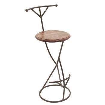 Tabouret de Bar Design Fer forgé et Palissandre - meuble style romantique