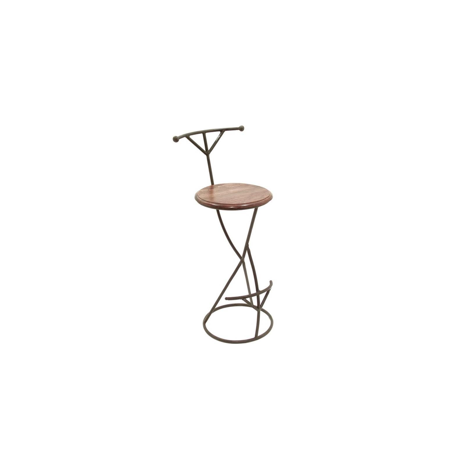 tabouret de bar design meuble en fer forg et palissandre. Black Bedroom Furniture Sets. Home Design Ideas